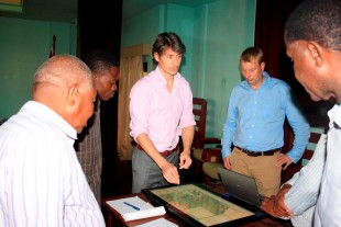 The AST touch table in use in Beira, Mozambique