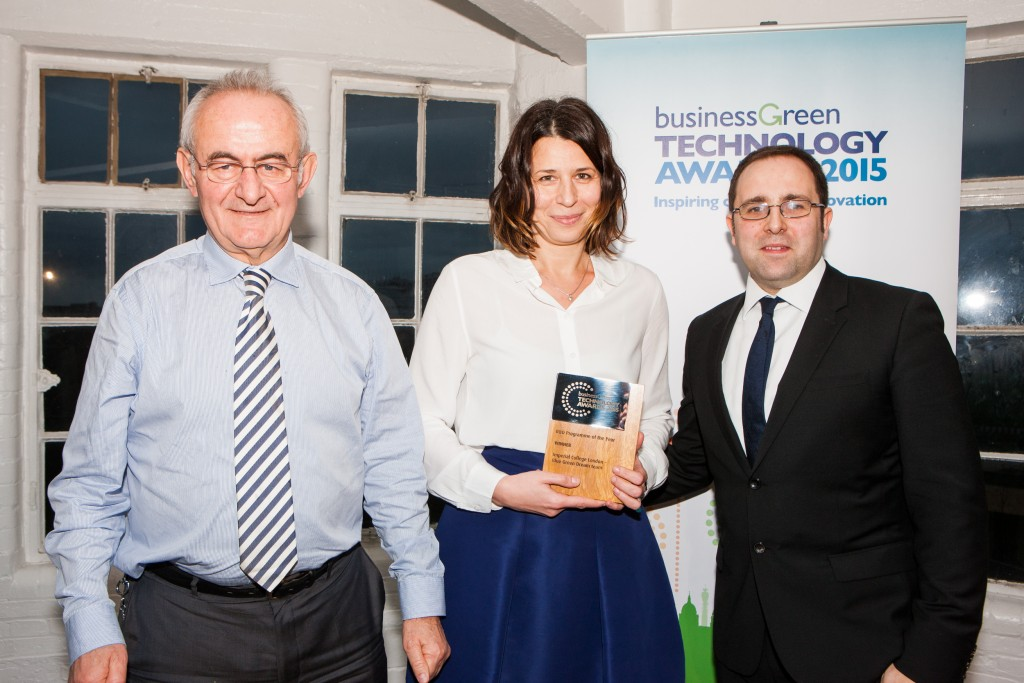 Prof. Cedo Maksimovic and Dr Ana Mijic of the BGD with James Murray, Editor-in-Chief of BusinessGreen