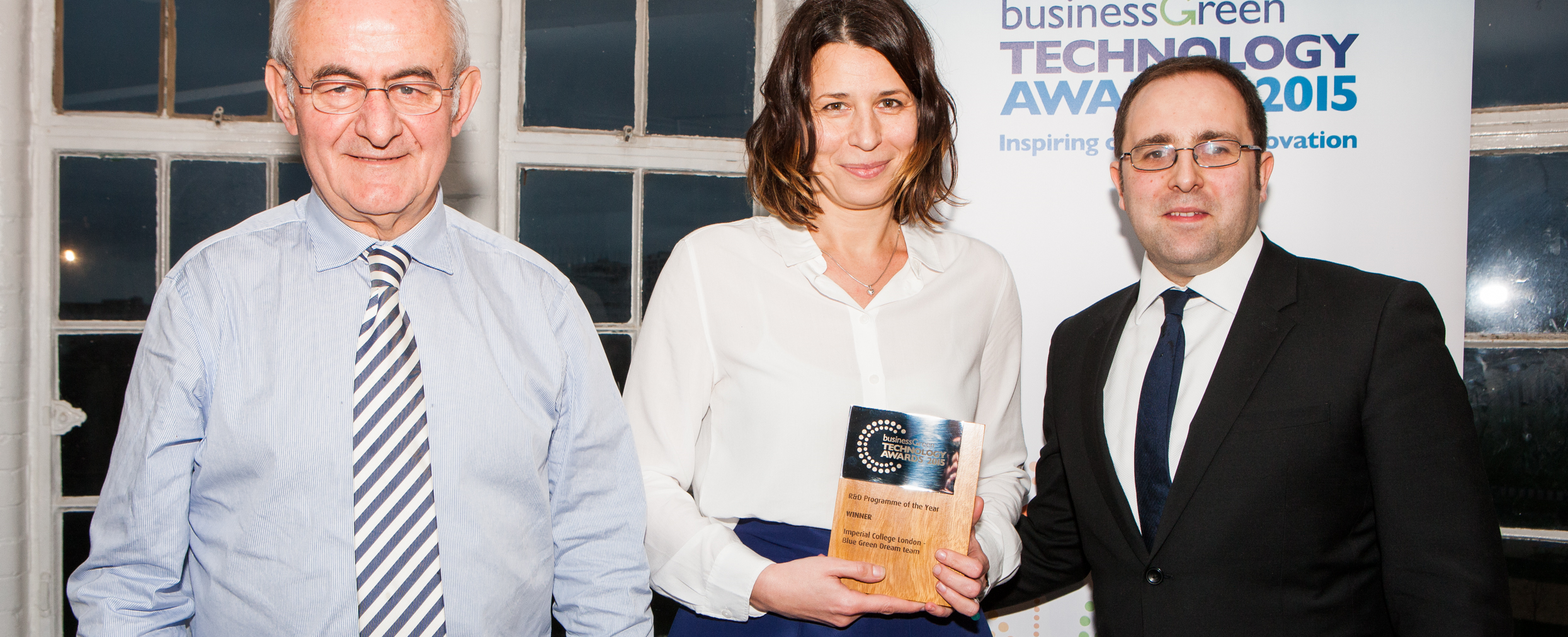 Blue Green Dream scoops 1st prize at the BusinessGreen Technology Awards!